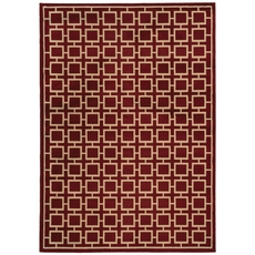 Oriental Weavers Ella 3885A Geometric Red and Beige Area Rug