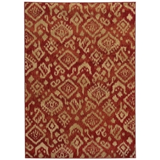 Oriental Weavers Ella 5113D Geometric Red and Beige Area Rug