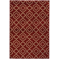 Oriental Weavers Ella 5185E Geometric Red and Beige Area Rug
