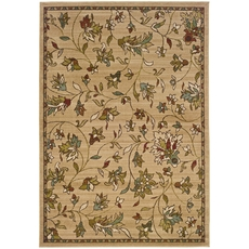 Oriental Weavers Emerson 1994A Floral Gold and Brown Area Rug