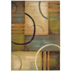 Oriental Weavers Emerson 2231A Geometric Brown and Gold Area Rug