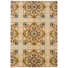 Oriental Weavers Emerson 2818B Floral Gold and Beige Area Rug