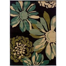 Oriental Weavers Emerson 2819A Floral Teal and Ivory Area Rug