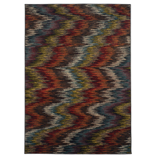 Oriental Weavers Emerson 4776A Abstract Multicolor Black Area Rug
