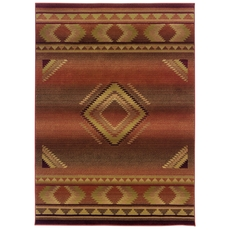 Oriental Weavers Generations 1506C Southwest Lodge Red and Beige Area Rug