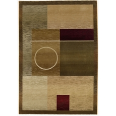 Oriental Weavers Generations 1987G Geometric Green and Brown Area Rug