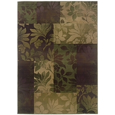 Oriental Weavers Generations 8006A Geometric Purple and Green Area Rug