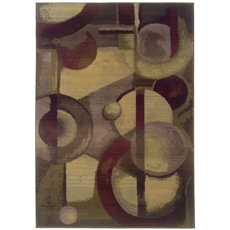 Oriental Weavers Generations 8013A Abstract Purple and Green Area Rug