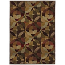 Oriental Weavers Genesis 564R Geometric Beige and Green Area Rug
