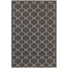 Oriental Weavers Hampton 537E5 Geometric Grey and Ivory Area Rug