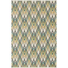 Oriental Weavers Hampton 564W5 Geometric Ivory and Grey Area Rug