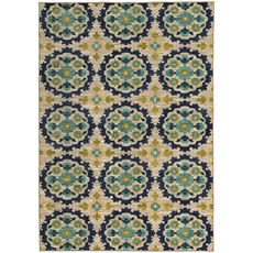 Oriental Weavers Harper 70373 Floral Beige and Blue Area Rug