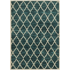 Oriental Weavers Harper 79279 Geometric Teal and Ivory Area Rug