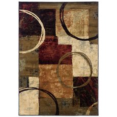 Oriental Weavers Hudson 2544B Abstract Brown and Black Area Rug