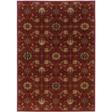 Oriental Weavers Hudson 3299A Floral Red and Brown Area Rug