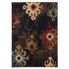 Oriental Weavers Hudson 4874B Abstract Ikat Black and Brown Area Rug