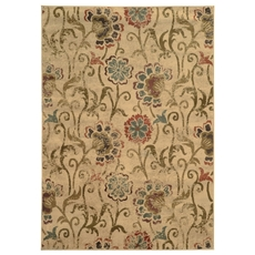 Oriental Weavers Hudson 4877B Floral Ivory and Green Area Rug