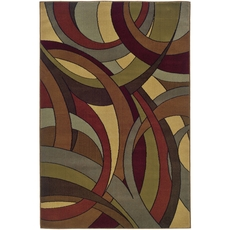 Oriental Weavers Huntington 1982A Abstract Beige and Blue Area Rug
