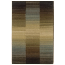 Oriental Weavers Huntington 1991D Striped Brown and Blue Area Rug