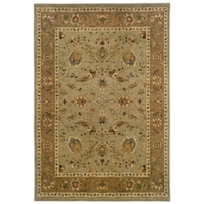 Oriental Weavers Infinity 1104C Oriental Green and Tan Area Rug
