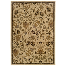 Oriental Weavers Infinity 1115B Floral Beige and Tan Area Rug