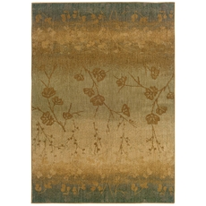 Oriental Weavers Infinity 1125B Floral Ombre Blue and Beige Area Rug