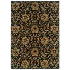 Oriental Weavers Infinity 1724E Floral Black and Gold Area Rug
