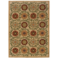 Oriental Weavers Infinity 2175E Floral Beige and Green Area Rug