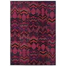 Oriental Weavers Kaleidoscope 004X Abstract Tribal Blue and Pink Area Rug