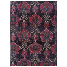 Oriental Weavers Kaleidoscope 1140V Abstract Floral Grey and Pink Area Rug