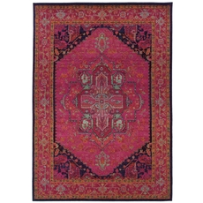 Oriental Weavers Kaleidoscope 1332S Oriental Pink and Blue Area Rug