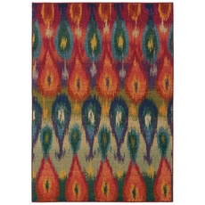 Oriental Weavers Kaleidoscope 2061Z Abstract Ikat Multi Red Area Rug