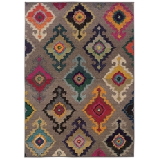 Oriental Weavers Kaleidoscope 5990E Tribal Multi Grey Area Rug