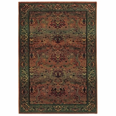 Oriental Weavers Kharma 465J Oriental Green and Beige Area Rug