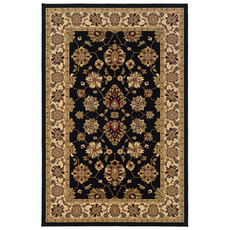 Oriental Weavers Knightsbridge 122K Oriental Black and Ivory Area Rug