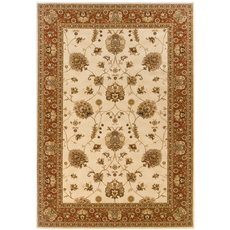 Oriental Weavers Knightsbridge 711J Oriental Ivory and Red Area Rug