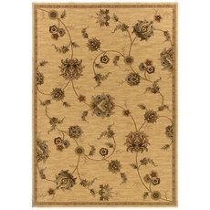 Oriental Weavers Knightsbridge 917J Floral Beige and Gold Area Rug