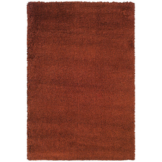 Oriental Weavers Loft Collection 520C Shag Rust and Brown Area Rug