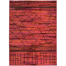 Oriental Weavers Nomad 633R5 Abstract Orange and Pink Area Rug