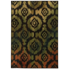 Oriental Weavers Parker 5601B Geometric Black and Green Area Rug