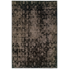 Oriental Weavers Revival 216E Oriental Overdyed Grey and Black Area Rug