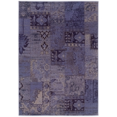Oriental Weavers Revival 501L Oriental Overdyed Purple and Grey Area Rug