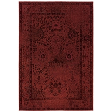 Oriental Weavers Revival 550R Oriental Red and Grey Area Rug
