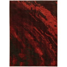 Oriental Weavers Sedona 6367B Abstract Red and Charcoal Area Rug