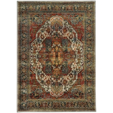 Oriental Weavers Sedona 6382B Oriental Red and Multi Area Rug