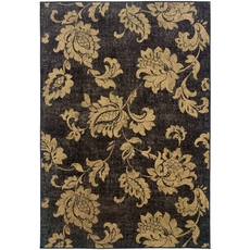 Oriental Weavers Stella 3270A Floral Black and Beige Area Rug