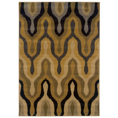Oriental Weavers Stella 3320D Abstract Gold and Black Area Rug