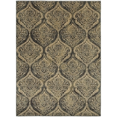 Oriental Weavers Stratton 4960C Oriental Blue and Ivory Area Rug