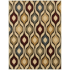 Oriental Weavers Stratton 5880A Geometric Ivory and Multi Area Rug