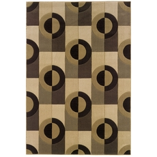 Oriental Weavers Tones 52J Geometric Brown and Beige Area Rug